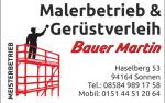 Malerbetrieb & Gerüstverleih Bauer Martin